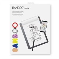 Wacom Bamboo Slate Small - digitizer - Bluetooth - medium gray with orange accents