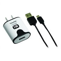 VisionTek - Power adapter - 2 A (USB (power only)) - on cable: Micro-USB - black