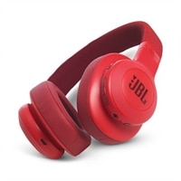 JBL E55BT - Headphones with mic - full size - Bluetooth - wireless - red
