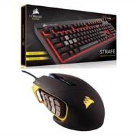 Strafe RGB Mechanical keyboard (Cherry MX red) + Scimitar Pro RGB mouse (yellow)