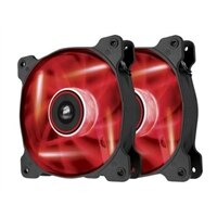 Corsair Air Series LED AF120 Quiet Edition - Case fan - 120 mm - red (pack of 2)