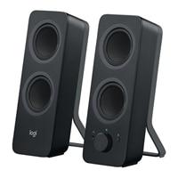 Logitech Z207 - Speakers - for PC - 2.0-channel - wireless - Bluetooth - 5-watt (total) - black