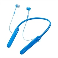 Sony WI-C400 - Earphones with mic - in-ear - behind-the-neck mount - Bluetooth - wireless - NFC - blue