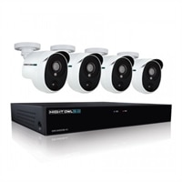 Night Owl Extreme HD XHD501-44P - DVR + Camera(s) - Wired - LAN 10/100 - 4 Channels - 1 x 1 TB - 4 Camera(s) - Black