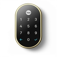 Nest x Yale Lock (Polished Brass) with Nest Connect
