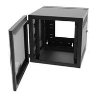 Legrand 26RU Swing-Out Wall-Mount Cabinet with Plexiglass Door-Black-TAA - system cabinet - 26U