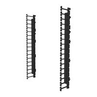 Legrand Vertical Cable Management Kit for 26RU Swing-Out Wall-Mount Cabinet - Cable management kit - black - 26U - 19...