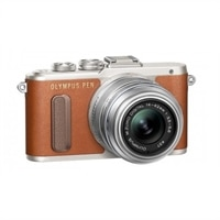 Olympus PEN E-PL8 with 14-42mm II R lens - Brown
