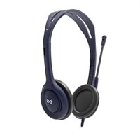 Logitech on-ear Wired 3.5 mm Microphone Headset - Midnight Blue