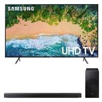Samsung 55 Inch 4K UHD HDR SmartTV - UN55NU7100FXZA with Soundbar and wireless subwoofer - HW-N550