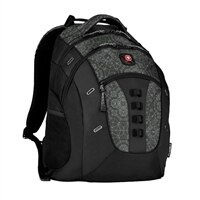 "SwissGear Granite Notebook Carrying Backpack - 16"" - Black, Geo Print"
