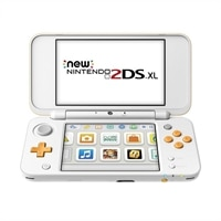 Nintendo 2DS XL  Handheld Game Console - White, Orange - Mario Kart 7