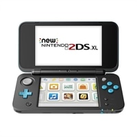 Nintendo 2DS XL Handheld Game Console - Black, Turquoise - Mario Kart 7