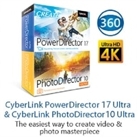 Cyberlink PowerDirector 17 and PhotoDirector 10