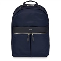 Knomo  Beauchamp Navy Nylon Backpack Leather Trim for 14in