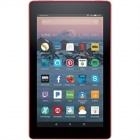 "Amazon Fire 7 Tablet with Alexa, 7"" Display - 8 GB - Punch Red - with Special Offers"