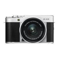 Fujifilm X Series X-A5 - Digital camera - mirrorless - 24.2 MP - APS-C - 4K / 15 fps - 3x optical zoom - Fujinon XC 15-45mm OIS PZ lens - Wi-Fi, Bluetooth - silver