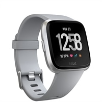 Fitbit Versa - Silver - smart watch with band - gray - Bluetooth
