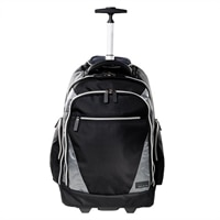 ECO STYLE Sports Voyage Rolling Backpack Laptop Carrying Case - 17.1-inch