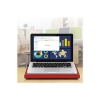 Aluratek ACP01FR - Laptop cooling pad - 17-inch - 127 mm - red