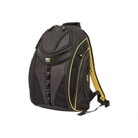 Mobile Edge Express Backpack 2.0 - Laptop carrying backpack - 16-inch - black, yellow