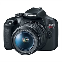 Canon EOS Rebel T7 - Double Zoom KIT - digital camera - SLR - 24.1 MP - APS-C - 1080p / 30 fps - 3x optical zoom EF-S 18-55mm IS II and EF 75-300mm III lenses - Wi-Fi, NFC - Black