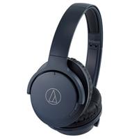 Audio Technica QuietPoint® Wireless Active Noise-Cancelling Headphones - Navy