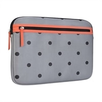 Targus - Arts Edition - Laptop sleeve - 14-inch - polka dots - Gray/Salmon