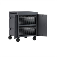 Bretford Cube TVC32 - Cart (charge only) for 32 tablets / notebooks (pre-wired) - lockable - welded steel - charcoal - output: AC 120 V