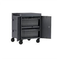 Bretford Cube TVC36 - Cart (charge only) for 36 tablets / notebooks (pre-wired) - lockable - welded steel - charcoal - output: AC 120 V