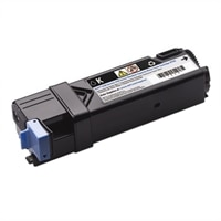 Cartucho de tóner negro de 1,200 páginas para impresoras láser color Dell 2150cn / 2150cdn / 2155cn / 2155cdn