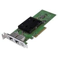 Dell Broadcom 57406 Dual puertos 10G Base-T Tarjeta de interfaz de red Ethernet PCIe de adaptador para servidores, bajo perfil, instalación del cliente