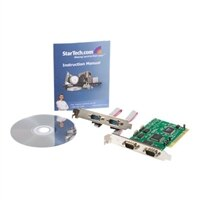 4-puerto StarTech.com Tarjeta Adaptadora PCI de 4 Puertos Serie RS232 DB9 UART 16550 - Doble Voltaje - adaptador serie