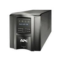 APC Smart-UPS 750 LCD - UPS - CA 120 V - 500 vatios - 750 VA - RS-232, USB - conectores de salida: 6  negro