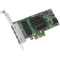 Tarjeta de interfaz de red Intel Ethernet I350 PCIe para adaptador para servidor de cuatro puertos y 1 Gigabit bajo perfil