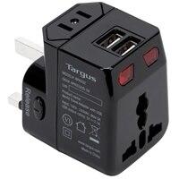 Targus World Travel Power Adapter with Dual USB Charging Ports - Adaptateur secteur - Noir
