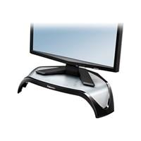"""Fellowes Smart Suites Corner Monitor Riser - Pied pour moniteur - acrylonitrile butadiene styrene (ABS) - noir - Taille d""""écran : 21"""""""