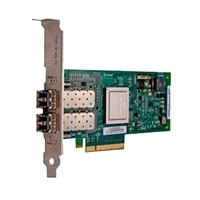 Dell Qlogic 2662 Dual Port 16 GB Fibre Channel-HBA Host Bus Adapter, lav profil