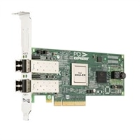 Dell Emulex LPE 12002, Dual Port 8Gb Fibre Channel-HBA Host Bus Adapter, full høyde, CusKit