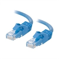 C2G Cat6 550MHz Snagless Patch Cable - koblingskabel - 50 cm - blå