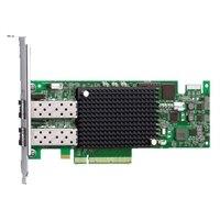 Adaptador de bus anfitrião de canal de fibra Emulex LPE 16002 Dual portas 16Gb, kit de cliente