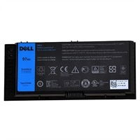 Dell - Bateria de Laptop (padrão) Lithium Ion 9 células 97 Wh - para Precision Mobile Workstation M4800, M6800