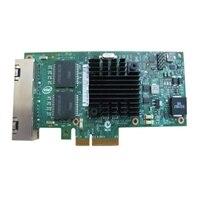 Dell placa de interface de rede Intel Ethernet I350 PCIe de quatro portas 1 Gigabit para placa de rede de servidor altura integral, Cuskit