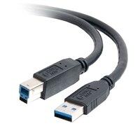 C2G - Cabo USB - USB de 9 pinos Tipo A (M) - USB de 9 pinos Tipo B (M) - 2 m (6.56 ft) ( USB 3.0 ) - preto