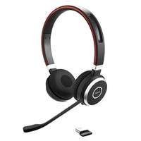 Jabra Evolve 65 MS stereo - Auscultadores - no ouvido - bluetooth - sem fios - NFC - USB