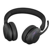 Jabra Evolve2 65 MS Stereo - Auscultadores - no ouvido - bluetooth - sem fios - USB-A - isolamento de ruído - preto