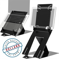 R-Go Tools RGORIDUOBL mesa & suporte audiovisual Preto Notebook/Tablet Organizador de tablets