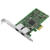 Dell med dubbel portar 1 Gigabit Broadcom 5720 -nätverkskort fullhöjd, Cuskit
