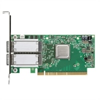 Dell med Dubbel portar Mellanox ConnectX-4, EDR, QSFP+, Adapter - låg profil