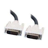 C2G - DVI-kabel - dubbel länk - DVI-D (hane) - DVI-D (hane) - 5 m